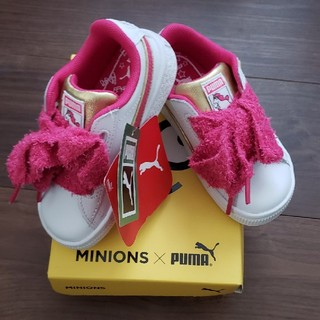 プーマ(PUMA)のPUMA ミニオンズ ピンク 15センチ スニーカー 靴 ファーストシューズ(スニーカー)