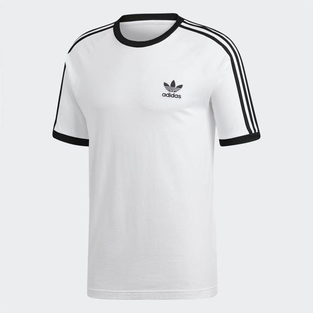 adidas(アディダス)のS【新品/即日発送OK】adidas オリジナルス Tシャツ 3ストライプ 白 メンズのトップス(Tシャツ/カットソー(半袖/袖なし))の商品写真