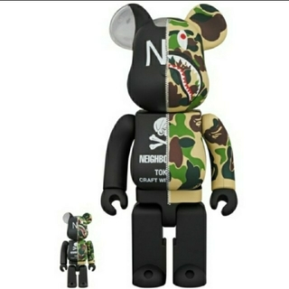 A BATHING APE - Be@rbrick Bape x NBHD 100% & 400%