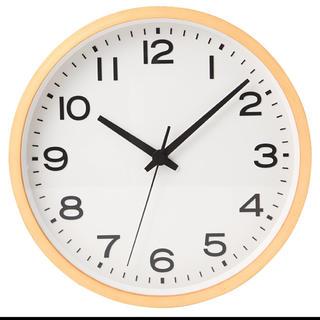 ムジルシリョウヒン(MUJI (無印良品))の新品 ★無印良品 アナログ時計・大 掛時計・ブナ材 ナチュラル 限定 掛時計(掛時計/柱時計)