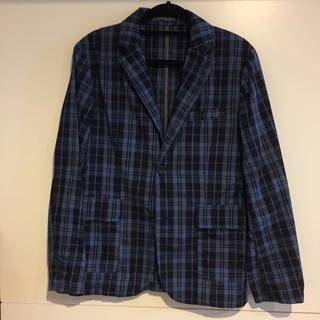 GU - GU ジャケット チェックシャツ メンズ 薄手