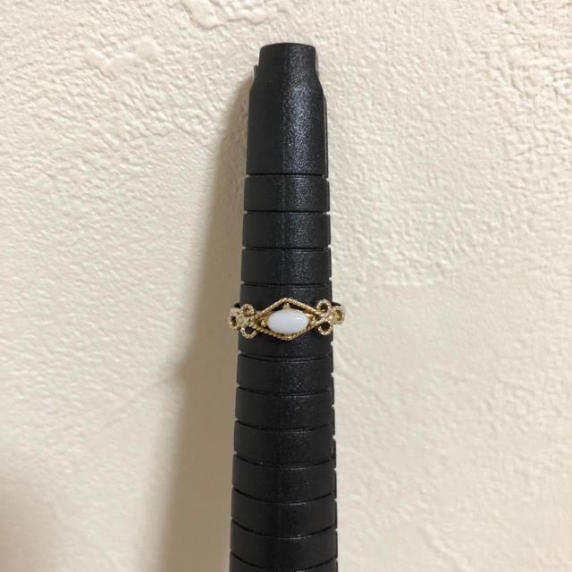 ブルーカルセドニー☆ピンキーリング レディースのアクセサリー(リング(指輪))の商品写真