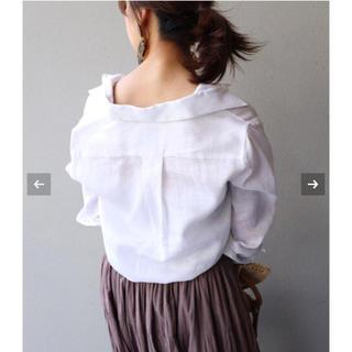 ノーブル(Noble)の未使用 Noble リネンシャツ ホワイト(シャツ/ブラウス(長袖/七分))