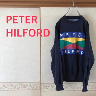 トミーヒルフィガー(TOMMY HILFIGER)の90s PETER HILFORD デカロゴ プリントスウェット メンズ M(スウェット)