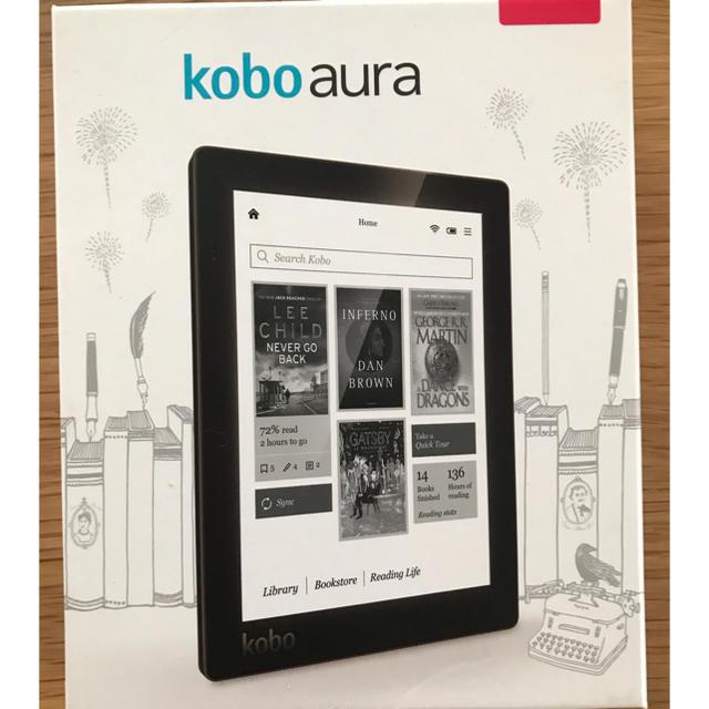 Rakuten(ラクテン)のkobo aura 楽天 電子書籍リーダー スマホ/家電/カメラのPC/タブレット(電子ブックリーダー)の商品写真