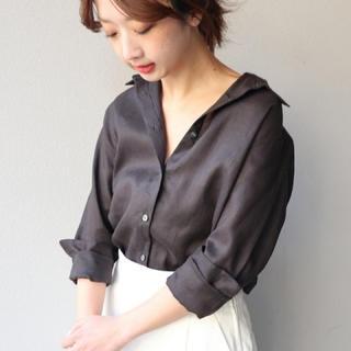 ノーブル(Noble)のーあおっち様専用ー 超美品 Noble リネンシャツ(シャツ/ブラウス(長袖/七分))