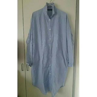 ピンストライプビックシャツ(シャツ/ブラウス(長袖/七分))