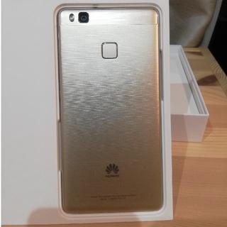 アンドロイド(ANDROID)のHUAWEI P9lite premium ゴールド 美品(スマートフォン本体)