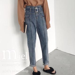 ザラ(ZARA)のdenim high-waist pants/ハイウエストジーンズ(デニム/ジーンズ)