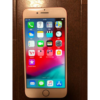 アイフォーン(iPhone)のau iPhone7  128GB   RED(携帯電話本体)