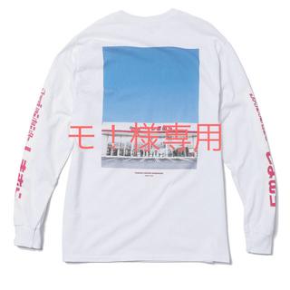 シマムラ(しまむら)のZOZO × しまむらバックフォトプリント長袖Tシャツ ホワイト Lサイズ (Tシャツ/カットソー(七分/長袖))