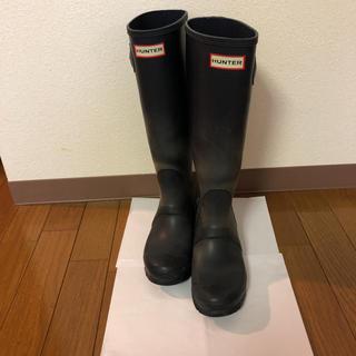 ハンター(HUNTER)のハンター長靴 ネイビー、22.5から23センチ(レインブーツ/長靴)