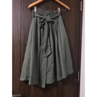 バイバイ(ByeBye)の新品❤️ByeBye カーキリボンスカート(ひざ丈スカート)