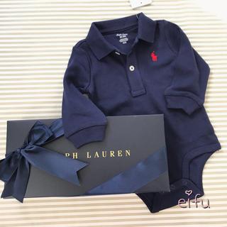ラルフローレン(Ralph Lauren)のギフト‼︎ ラルフローレン  襟付き ロンパース 長袖 60センチ(ロンパース)