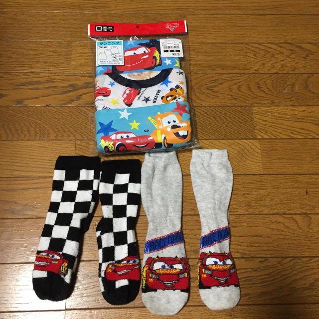西松屋(ニシマツヤ)のカーズ タンクトップ肌着&靴下 80 新品あり キッズ/ベビー/マタニティのベビー服(~85cm)(肌着/下着)の商品写真