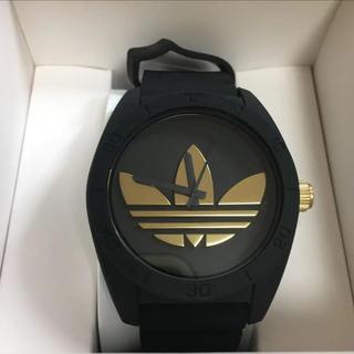 アディダス(adidas)のadidas 腕時計 アディダス ブラックゴールド 黒 金(腕時計(アナログ))