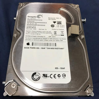 アップル(Apple)のiMac純正 HDD 500GB Seagate ST3500418AS(PCパーツ)