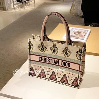 ディオール(Dior)の超レア★Dior Book Tote スモール ブックトート ピンク/イエロー(トートバッグ)