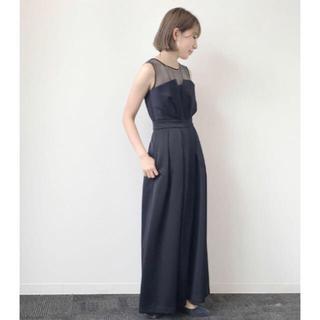 5514ec4e21b4c ラボラトリーワーク(LABORATORY WORK)のラボラトリーワーク ビスチェドレス パンツ ネイビー(その他ドレス