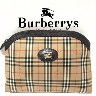 バーバリー(BURBERRY)のバーバリー シャドーホース クラッチバッグ ポーチ ヴィンテージ(クラッチバッグ)