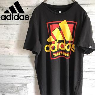 アディダス(adidas)の【レア】アディダス adidas☆プリントビッグロゴ ロゴタグ Tシャツ(Tシャツ/カットソー(半袖/袖なし))