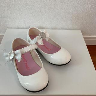 ディズニー(Disney)のディズニー ビビディバビディブティック 靴  ホワイト 20cm(フォーマルシューズ)