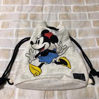 ディズニー(Disney)のBREEZE リュック ナップサック 巾着 ミニー お着替え 体操服(外出用品)