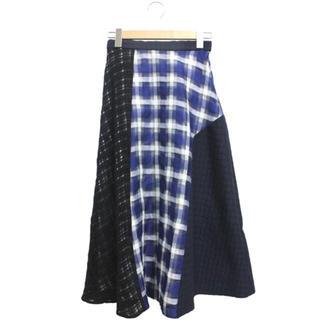 エンフォルド(ENFOLD)のENFOLD フレアチェックスカート(ひざ丈スカート)