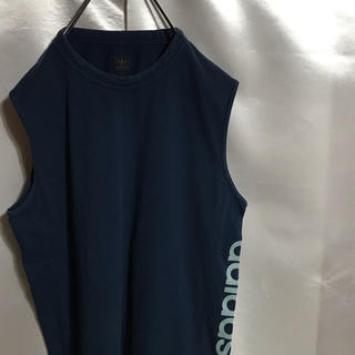 アディダス(adidas)のVintage90s adidas Tシャツ タンクトップ 万国旗タグ(Tシャツ/カットソー(半袖/袖なし))