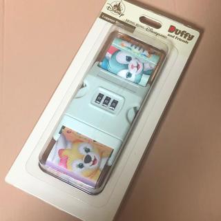 ダッフィー(ダッフィー)のHKDL 香港ディズニー ダッフィー スーツケースベルト 新品(旅行用品)