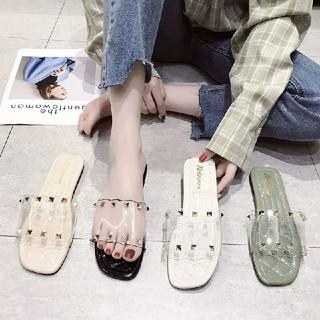 スタッズ クリアサンダル 新品 ZARA ザラ H&M  ユニクロ adidas(サンダル)