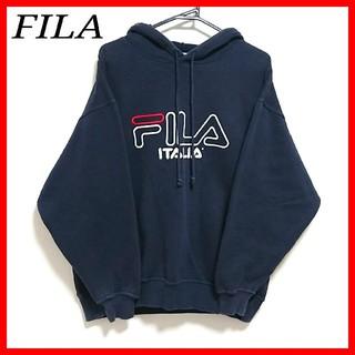 フィラ(FILA)の☆美品☆FILA トレーナー プルオーバー 大きいサイズ メンズ XL ネイビー(スウェット)