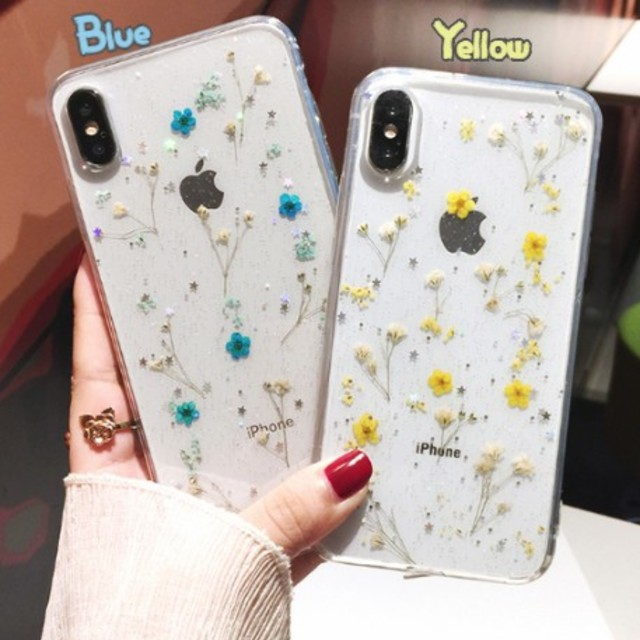 iphone xs max ガラス ケース 、 花柄 iPhoneケース ハンドメイド 6/7/8/X/XS/XRの通販 by meow♡shop's|ラクマ