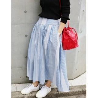 イエナ(IENA)のIENA ストライプボリュームスカート / 34(ロングスカート)