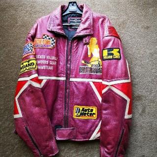 イエローコーン(YeLLOW CORN)のイエローコーン 革製ライダースジャケット(ライダースジャケット)