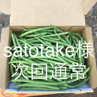 鹿児島産甘サヤインゲン箱込み500g^_^次回通常(野菜)