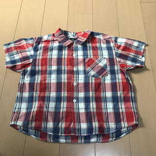 ファミリア(familiar)のファミリア 100㎝ 男の子用 チェック柄 半袖シャツ(ブラウス)