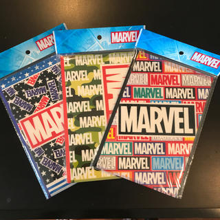 MARVEL - MARVEL カバー付ノートA5サイズ 3冊セット