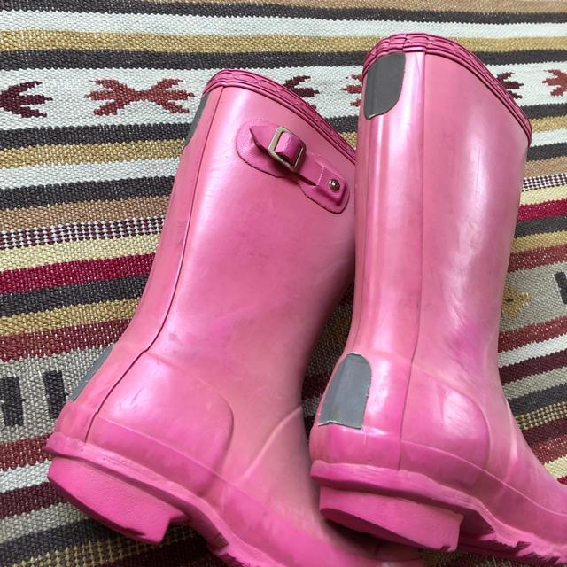 HUNTER(ハンター)の中古 Hunter ハンター 長靴 キッズ 18〜19cm ピンク キッズ/ベビー/マタニティのキッズ靴/シューズ(15cm~)(長靴/レインシューズ)の商品写真