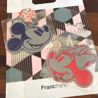 フランフラン(Francfranc)の新品未開封 フランフラン コースター ディズニー 2枚セット(テーブル用品)