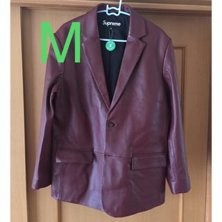 Supreme - supreme  leather blazer jacket レザージャケットM