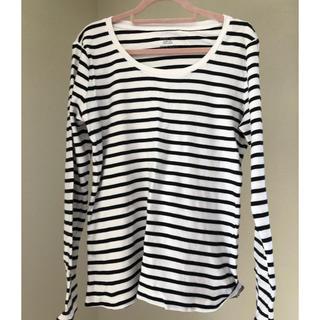 ジーユー(GU)のGU ボーダーロンTシャツ(Tシャツ(長袖/七分))