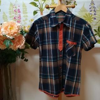 イエロールビー(YELLOW RUBY)の✨YELLOW RUBY(イエロールビー)チェック柄の半袖シャツMサイズ♪(シャツ)