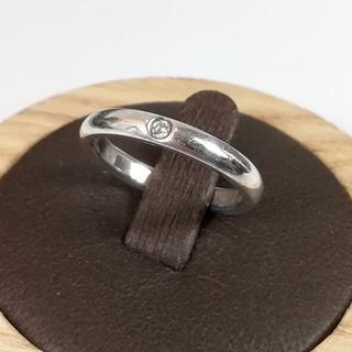 ティファニー(Tiffany & Co.)の美品 ティファニー シルバー 1P ダイヤ リング 8号 UI28(リング(指輪))