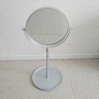 MUJI (無印良品) - 無印良品 アルミコンパクトミラー 大 /トレー 拡大鏡