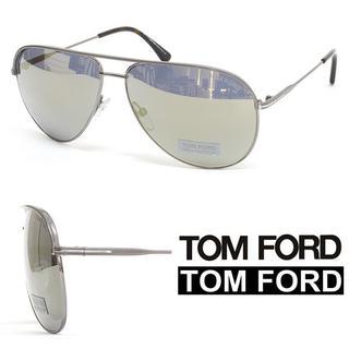 トムフォード(TOM FORD)の【29】TOM FORDガンメタシルバーティアドロップ サングラス (サングラス/メガネ)