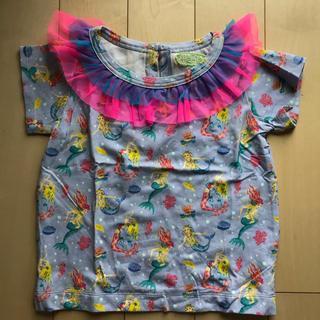フェフェ(fafa)の美品☆fafa フェフェ☆フリル襟マーメイドカットソー☆110(Tシャツ/カットソー)