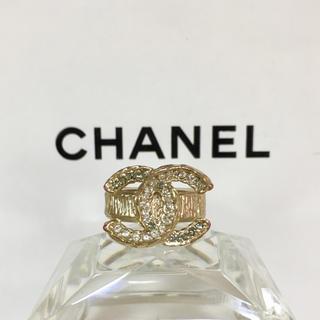 6e3ed0421243 シャネル(CHANEL)の正規品 シャネル 指輪 ゴールド ココマーク ラインストーン 金 2