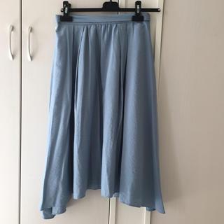 バビロン(BABYLONE)のバビロン購入☆水色ミモレ丈スカート(ひざ丈スカート)