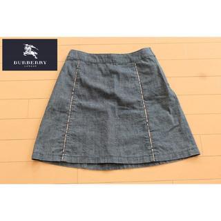 バーバリー(BURBERRY)の【BURBERRY LONDON】160cmサイズデニムスカート*905(ひざ丈スカート)